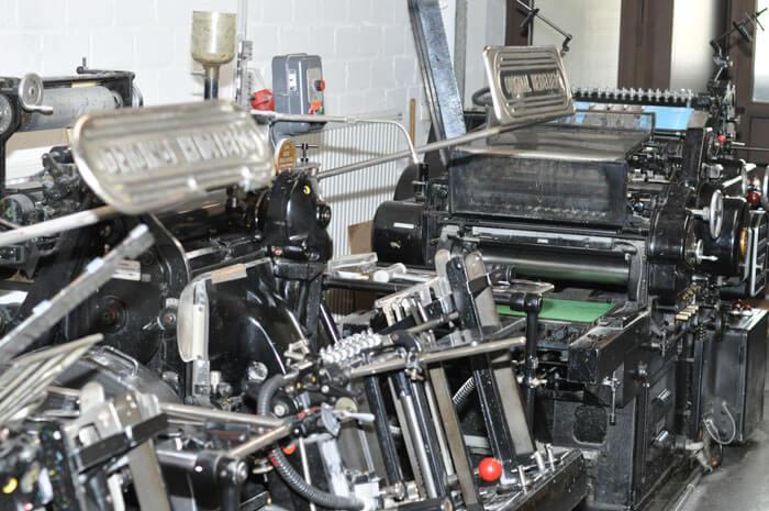 Historische Druckmaschinen aus der Gründungszeit